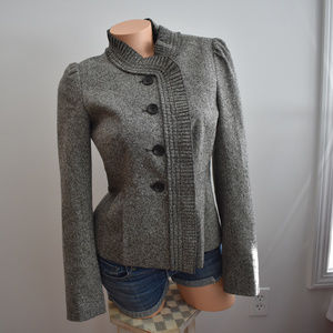 LOFT Wool Blend Tweed Peplum Blazer Size 4